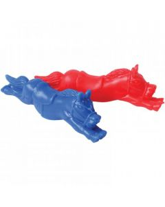 "U.S. Toy Flying Rubber Racehorse Shooter 4.25"" Party Favors, Red Blue, 8 Pack"