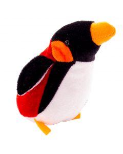"""Bean Bag Emporer Penguin Stocking Stuffer 5.5"""" Plush Toy, Red Black White"""