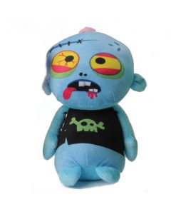 "Veil Entertainment Halloween Spooky Dead Zombie with Shirt 10"" Plush Toy, Blue"