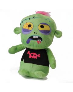 """US Toy Stuffed Spooky Dead Zombie with Tie 10"""" Plush Toy, Green Blue"""
