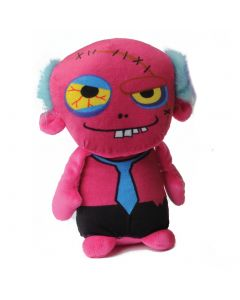 """US Toy Stuffed Spooky Dead Zombie guy with Tie 10"""" Plush Toy, Pink"""