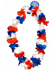 "US Toy Patriotic Flashing Blinking Fabric Lei, Red White Blue, One-Size 36""L"