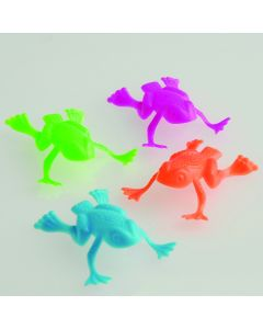 "US Toy Bag Of Funny Jumping Toy Frogs 2""  Party Favors, Assorted, 36 Pack"
