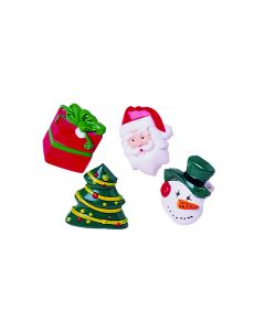 """US Toy Assorted Christmas Character Rings 1"""" Stocking Stuffer, 12 Pack"""