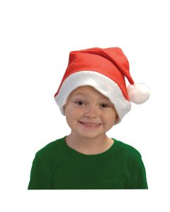 Soft Adult Felt Santa Claus Christmas Costume Hat, Red White, One Size