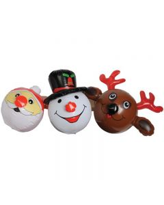 "Veil Entertainment Holiday Christmas Character Balls 15"" Inflatable Toy"