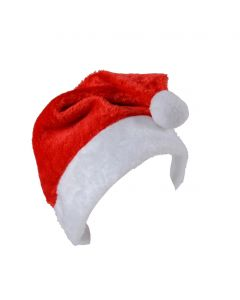 "Soft Deluxe Santa Claus Christmas Costume Hat, Red White, One Size 17""x11.25"""