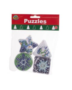 """US Toy Snowman Maze Puzzle Favors 2""""-3"""" Stocking Stuffer, Blue Green, 12 Pack"""
