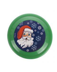 """Veil Entertainment Christmas Santa Flying Saucer 6"""" Stocking Stuffer, Red Green"""