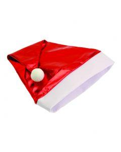 US Toy Seasonal Metallic Santa Christmas  Hat, Red White, One-Size 17.5 in