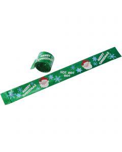 """US Toy Christmas Slap Bracelets 9"""" Bracelet, Green Red White, 8 Pack"""