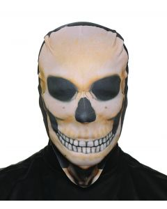 Underwraps Halloween Skeleton Skull Skin Stocking Mask, Beige Black, One Size
