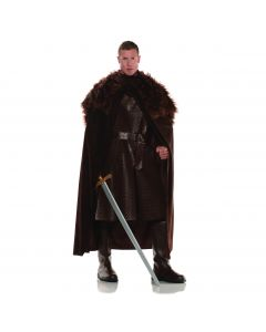 Underwraps Renaissance Medieval Fur Mantle Cape, Brown, One Size