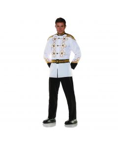 Underwraps Prince Charming 3pc Men Costume, Black White Gold, One-Size