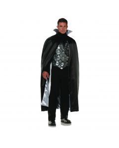 Underwraps Complete Vampire Gothic 3pc Men Costume, Black Silver, One-Size