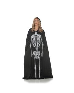 Underwraps Halloween Skeleton Cape Standard Cape, Black White, One-Size