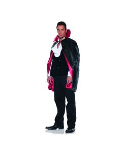 Underwraps Vampire Dracula Reversible Cape Cape, Black Red, One Size 44""