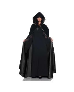 Underwraps Halloween Deluxe Velvet & Satin Cape, Black, One Size 63""