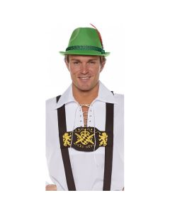 Underwraps Lederhosen Suspenders, Black Yellow, One-Size 42-46""