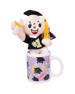 """Veil Entertainment Graduation Mug and Stuffed Animal 2pc 4"""" Gift Set"""