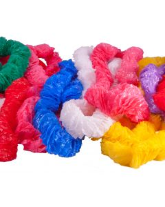 "72 Piece Hawaiian 1"" Thick Plastic Luau Lei Mega Pack, 34"" L, Assorted Colors"