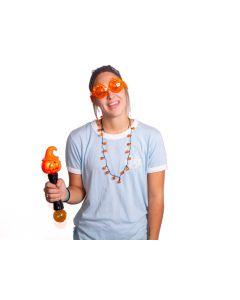 Trick or Treat Jack 'O Lanteren Pumpkin 3pc Light-Up Safety Kit, Orange