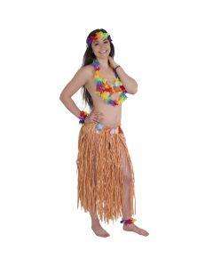 Tropical Flower Luau Party Hula Girl 6pc Costume Accessory Kit, Rainbow, Onesize