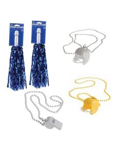 """Los Angeles Rams Football Fan Team Cheering 5pc 22"""" Party Pack, Gold Navy Blue"""