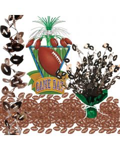 Football Party Supplies Table Pack With Centerpieces, Garland, Confetti