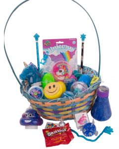 Kids Ultimate Slime & Putty Gooey 27pc Large Easter Basket Gift Set, Blue Multi