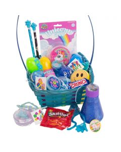 Kids Ultimate Slime & Putty Gooey 25pc Medium Easter Basket Gift Set, Blue Multi