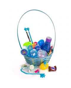 Kids Ultimate Slime & Putty Sticky Goey 22pc Small Easter Basket Gift Set, Blue