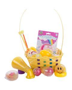 Kids Ultimate Slime & Putty 25pc Medium Easter Basket Gift Set, Yellow Multi