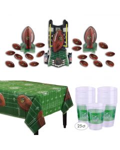 Officially Licensed Super Bowl 53 Football Party Tableware 32pc Decoration Pack