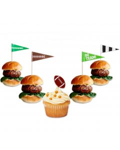 Super Bowl Party Football Decoration Cupcake Snack Food 72pc Appetizer Picks