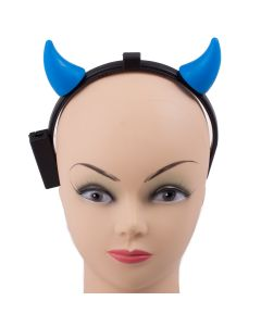 Light-Up Devil Horns Halloween Costume LED Headband, Blue, 6.5""