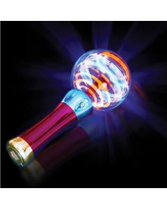 "Veil Entertainment Magic Spinning Ball Wand 8"" LED Wand, Red Green Blue"