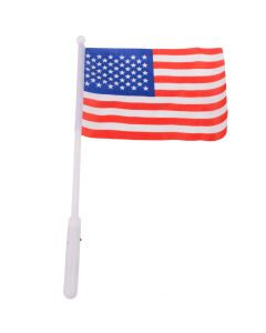 "Veil Entertainment Patriotic American Flag 19"" Light-Up Stick, Red White Blue"