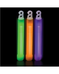 "Individually Packaged Solid Color Light 6"" Glow Stick w Lanyard, 6 Pack"