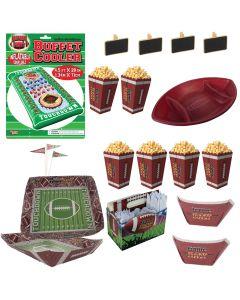 Forum Football Deluxe 53pc Party Serveware Set, Green White Brown