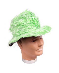 Veil Entertainment Fuzzy Pimp Halloween Costume Brim Hat, Green, One-Size