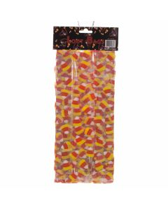 "Candy Corn Loot Halloween Cellophane 11"" x 3"" Favor Bags, Yellow Orange, 25 CT"