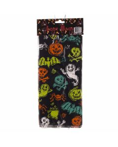 "Ghosts Bats Skulls Spiders Halloween Loot Candy Cello 11"" x 3"" Favor Bags, 25 CT"