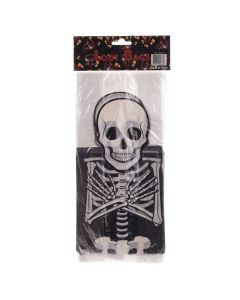 "Skeleton Halloween Loot Candy Cello 11"" x 3"" Favor Bags, White Black, 25 CT"