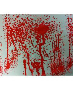 "Pack or 12 Gory Bloody Halloween 54""x72"" Plastic Tablecover, White Red"