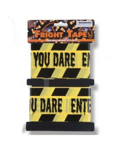 Enter If You Dare Spooky Party Banner 20' Caution Tape, Yellow Black, 2 CT