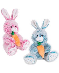 "Kids Soft Stuffed Rabbit with Carrot Easter Bunny 14"" Plush Animal"