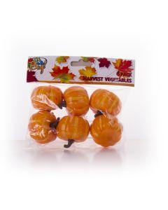 "Mini Plastic Pumpkin Fall Harvest Autumn Halloween 5"" Decoration Pack, 6 CT"