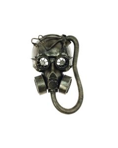KBW Steampunk Costume Big Tube Goggles Gas Face Mask, Gold, One-Size