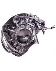 Veil Entertainment Steampunk Phantom w Monocle Masquerade Half Mask, One-Size